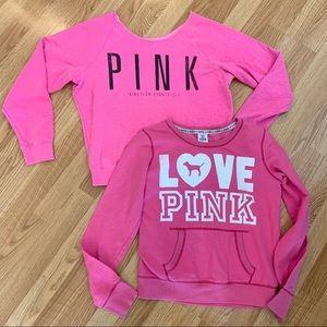 Victoria's Secret PINK sweatshirt bundle